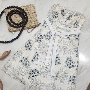 WHBM Toile Floral Print Dress